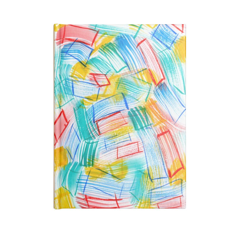 SQUARE BRUSHES Accessories Lined Journal Notebook by designsbydana's Artist Shop