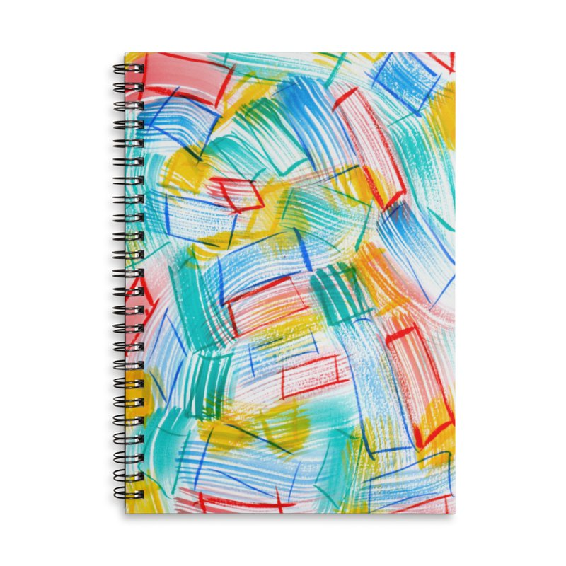 SQUARE BRUSHES Accessories Lined Spiral Notebook by designsbydana's Artist Shop