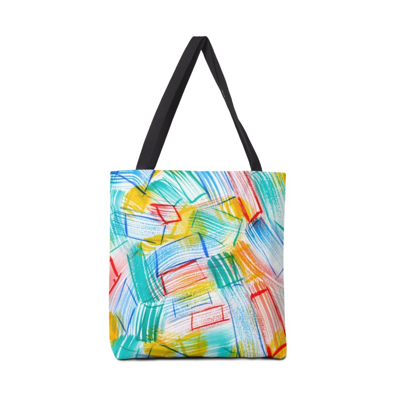 SQUARE BRUSHES Accessories Tote Bag Bag by designsbydana's Artist Shop