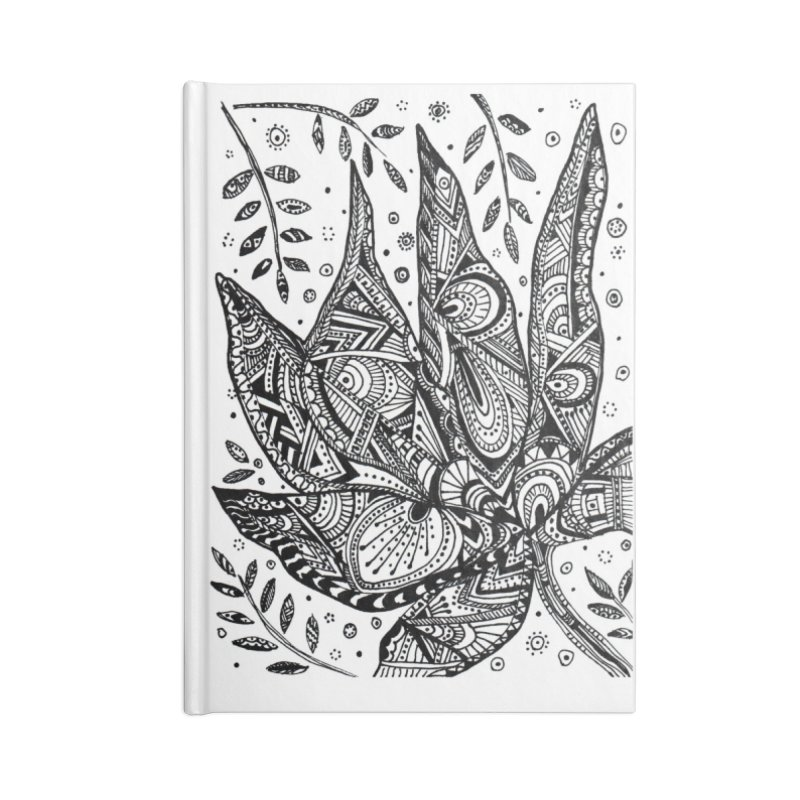 LEAF Accessories Lined Journal Notebook by designsbydana's Artist Shop