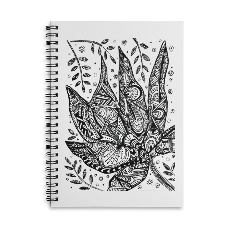 LEAF Accessories Lined Spiral Notebook by designsbydana's Artist Shop
