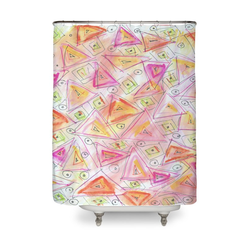 TRIANGLES Home Shower Curtain by designsbydana's Artist Shop