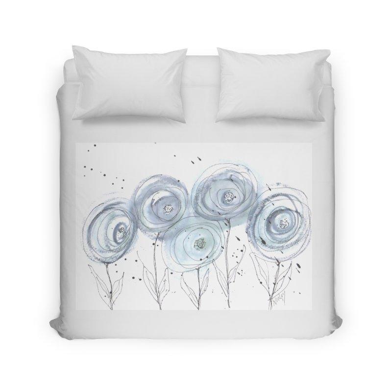Circle Flowers Home Duvet by designsbydana's Artist Shop