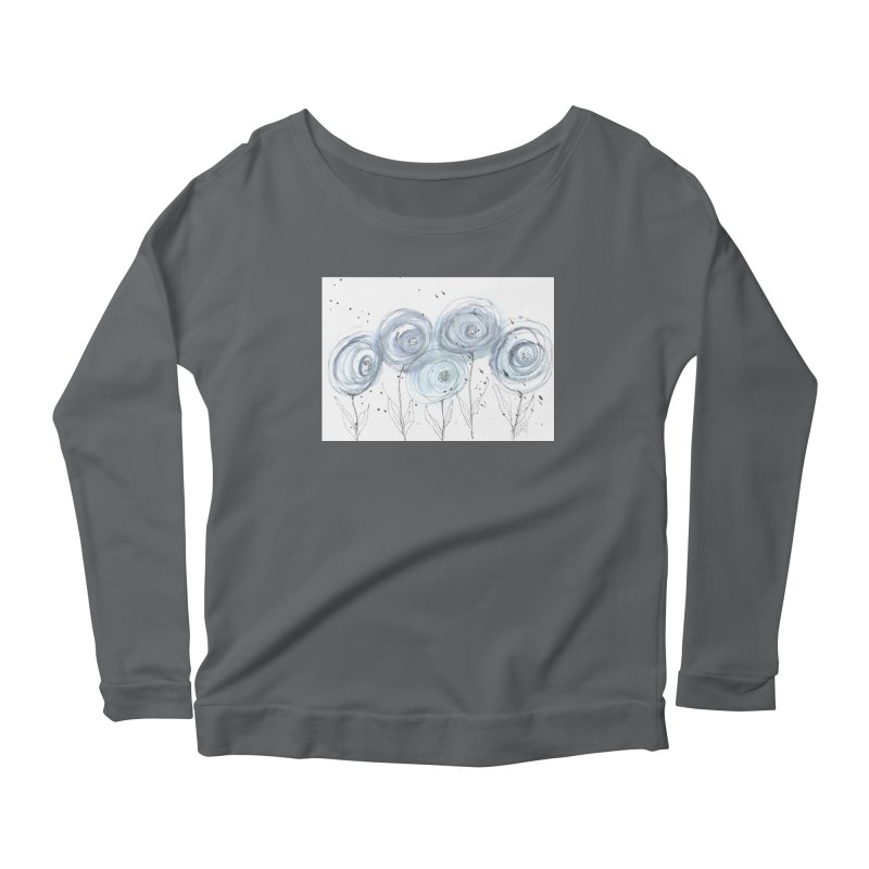 Circle Flowers Women's Longsleeve T-Shirt by designsbydana's Artist Shop