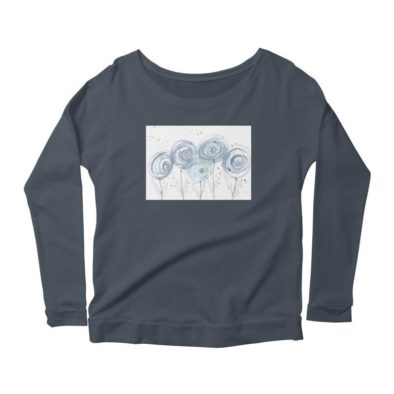 Circle Flowers Women's Longsleeve T-Shirt by designsbydana's Artist Shop