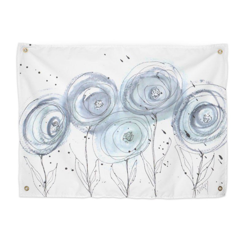Circle Flowers Home Tapestry by designsbydana's Artist Shop