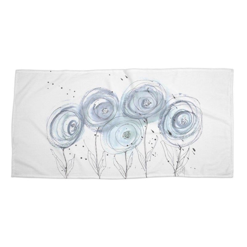 Circle Flowers Accessories Beach Towel by designsbydana's Artist Shop