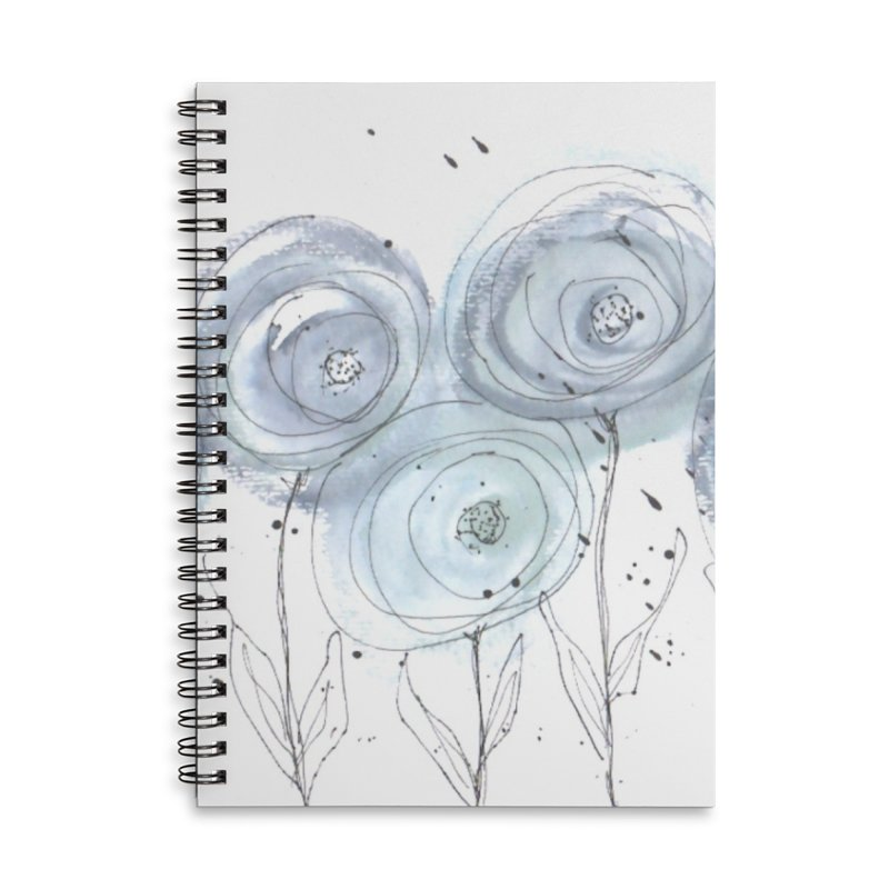 Circle Flowers Accessories Lined Spiral Notebook by designsbydana's Artist Shop