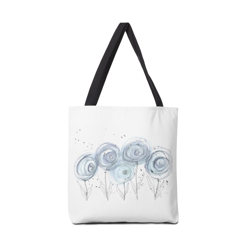 Circle Flowers Accessories Tote Bag Bag by designsbydana's Artist Shop