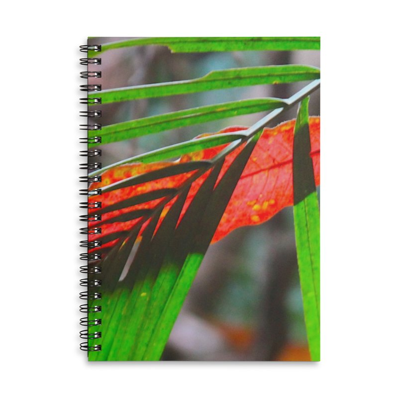 AMAZON LEAVES Accessories Lined Spiral Notebook by designsbydana's Artist Shop