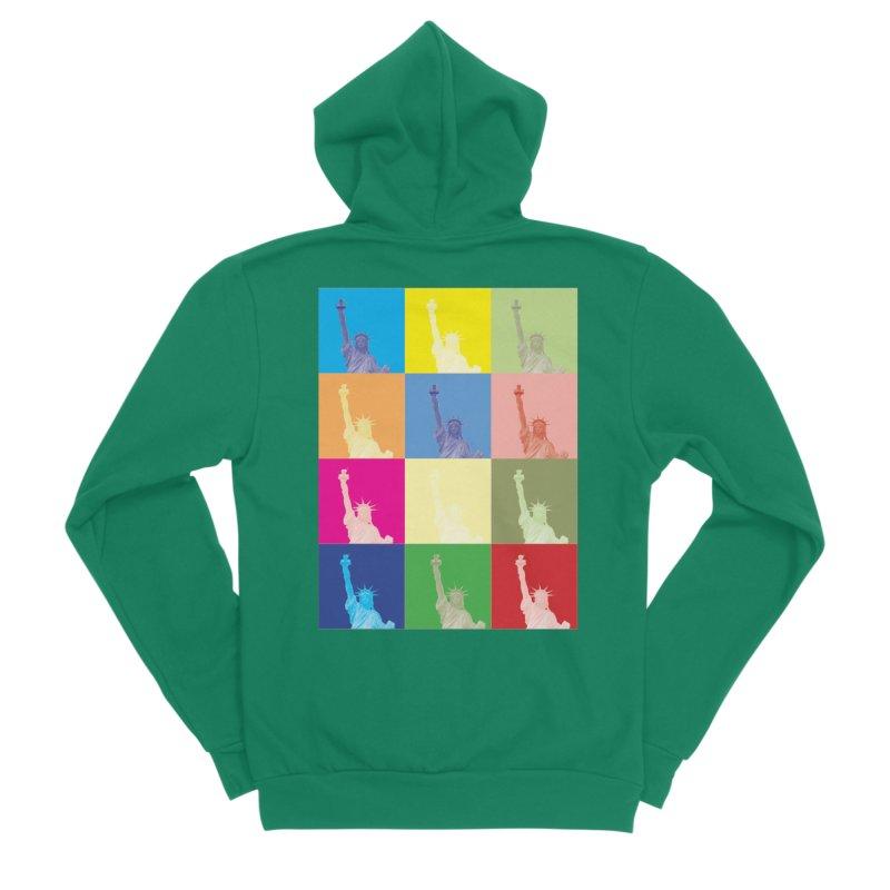 LIBERTY Men's Zip-Up Hoody by designsbydana's Artist Shop