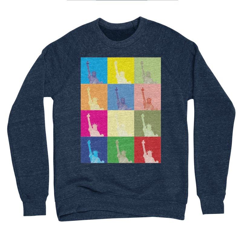 LIBERTY Men's Sponge Fleece Sweatshirt by designsbydana's Artist Shop