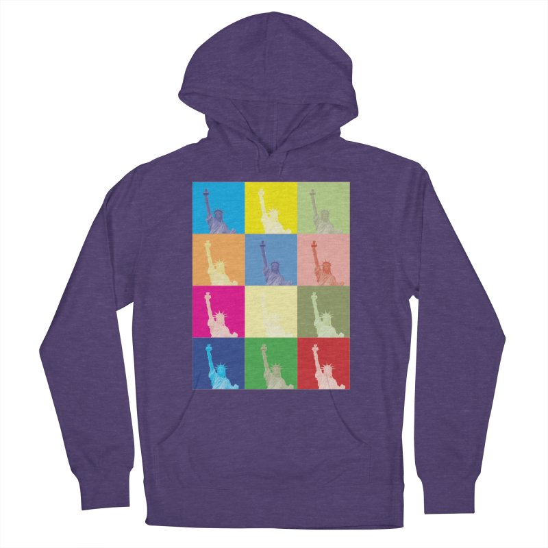 LIBERTY Men's French Terry Pullover Hoody by designsbydana's Artist Shop