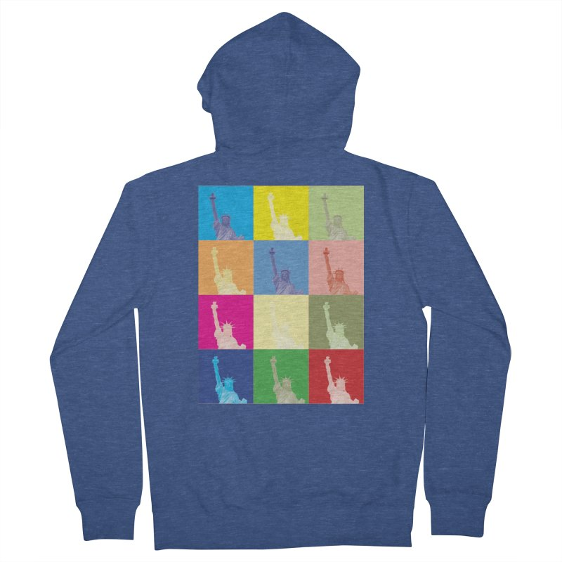 LIBERTY Men's French Terry Zip-Up Hoody by designsbydana's Artist Shop