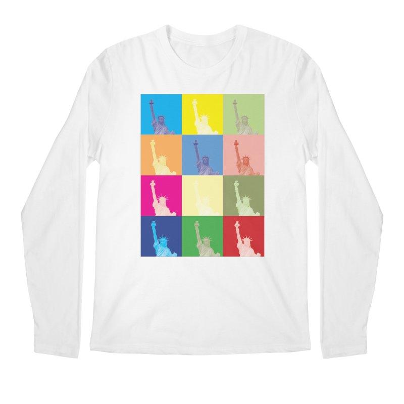 LIBERTY Men's Regular Longsleeve T-Shirt by designsbydana's Artist Shop