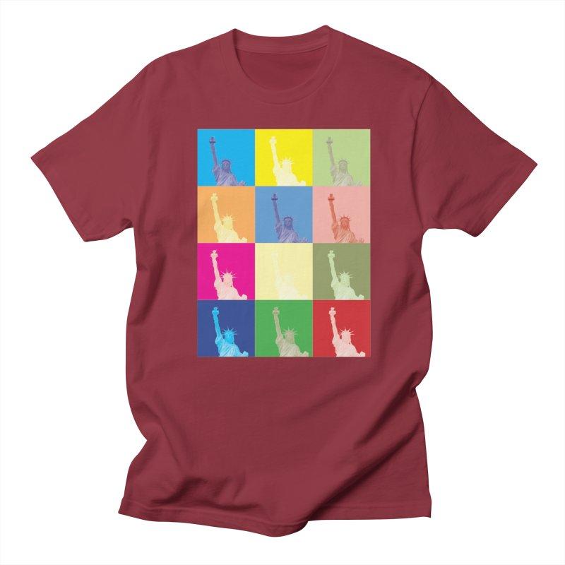 LIBERTY Men's Regular T-Shirt by designsbydana's Artist Shop