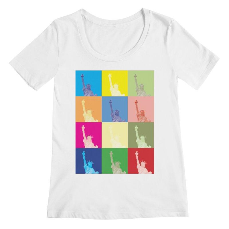 LIBERTY Women's Regular Scoop Neck by designsbydana's Artist Shop