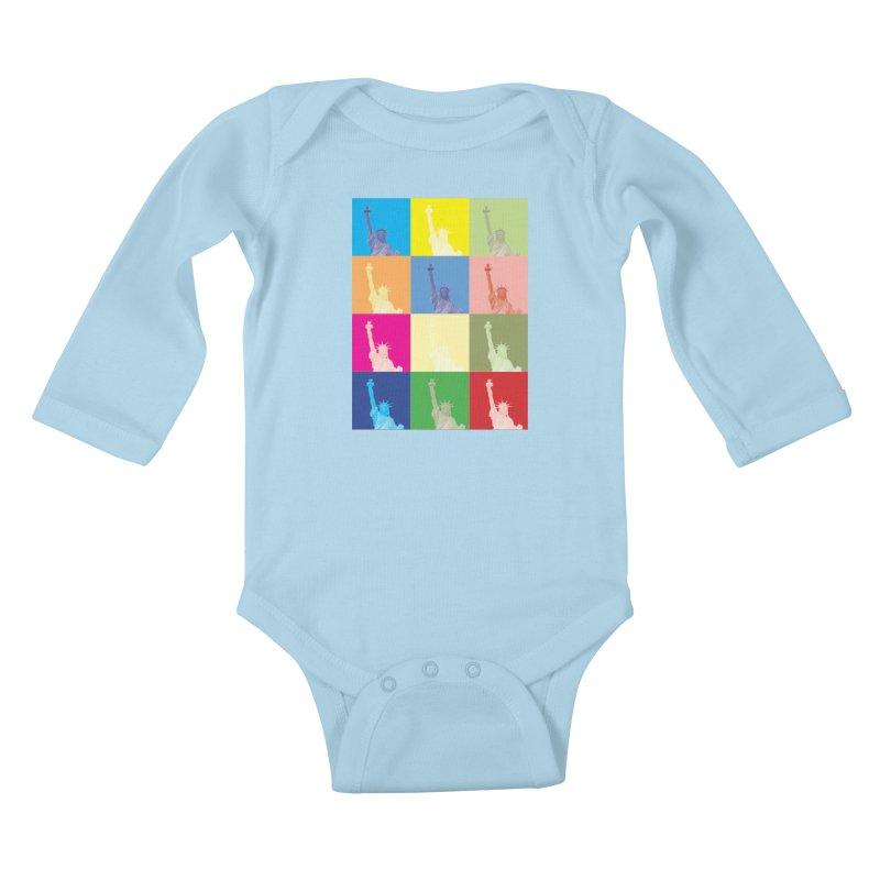 LIBERTY Kids Baby Longsleeve Bodysuit by designsbydana's Artist Shop