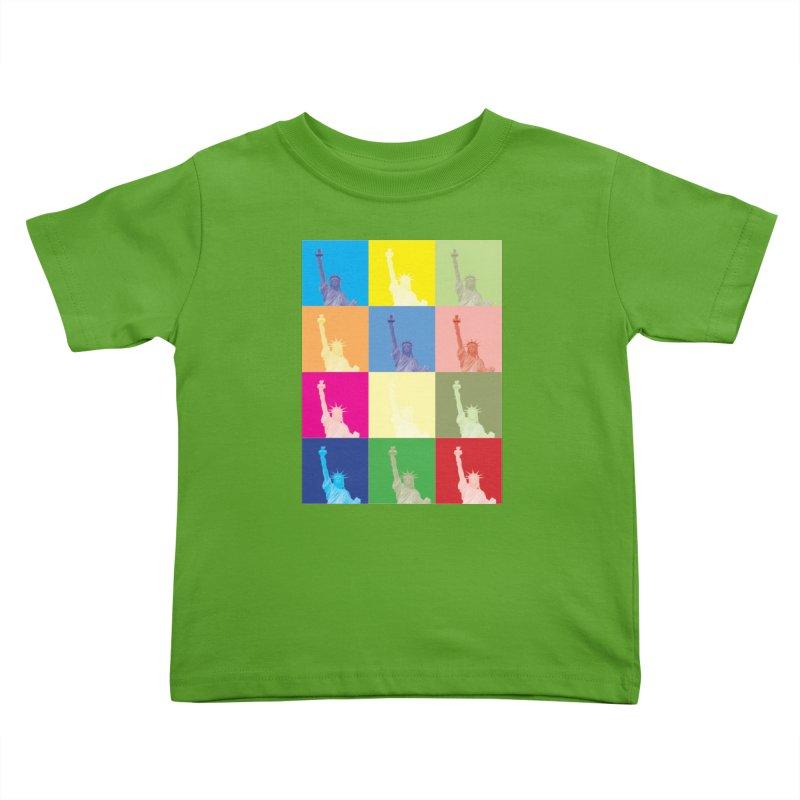 LIBERTY Kids Toddler T-Shirt by designsbydana's Artist Shop