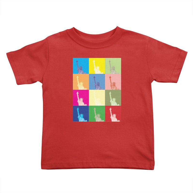 LIBERTY Kids Toddler T-Shirt by designsbydana's Artist Shop