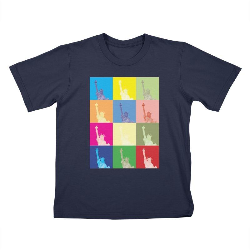 LIBERTY Kids T-Shirt by designsbydana's Artist Shop