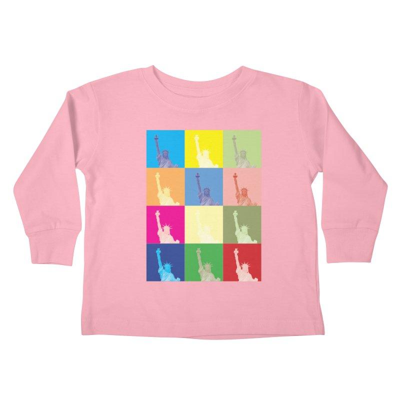LIBERTY Kids Toddler Longsleeve T-Shirt by designsbydana's Artist Shop