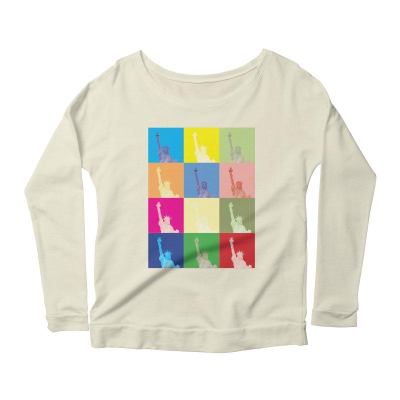 LIBERTY Women's Scoop Neck Longsleeve T-Shirt by designsbydana's Artist Shop