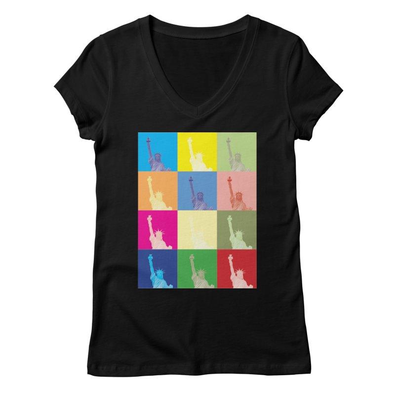 LIBERTY Women's V-Neck by designsbydana's Artist Shop