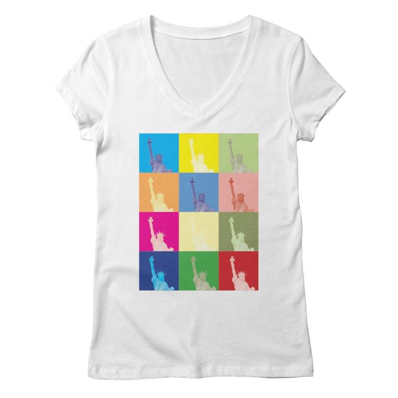 LIBERTY Women's Regular V-Neck by designsbydana's Artist Shop
