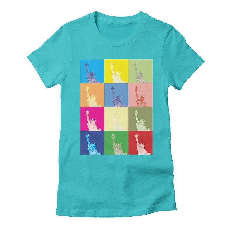 LIBERTY Women's Fitted T-Shirt by designsbydana's Artist Shop