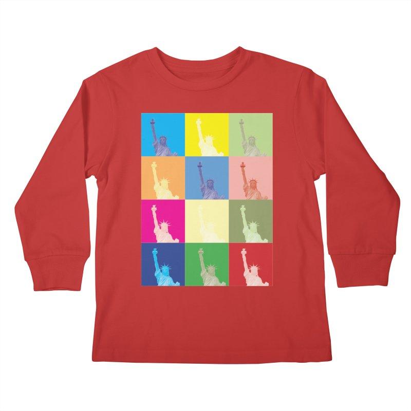 LIBERTY Kids Longsleeve T-Shirt by designsbydana's Artist Shop