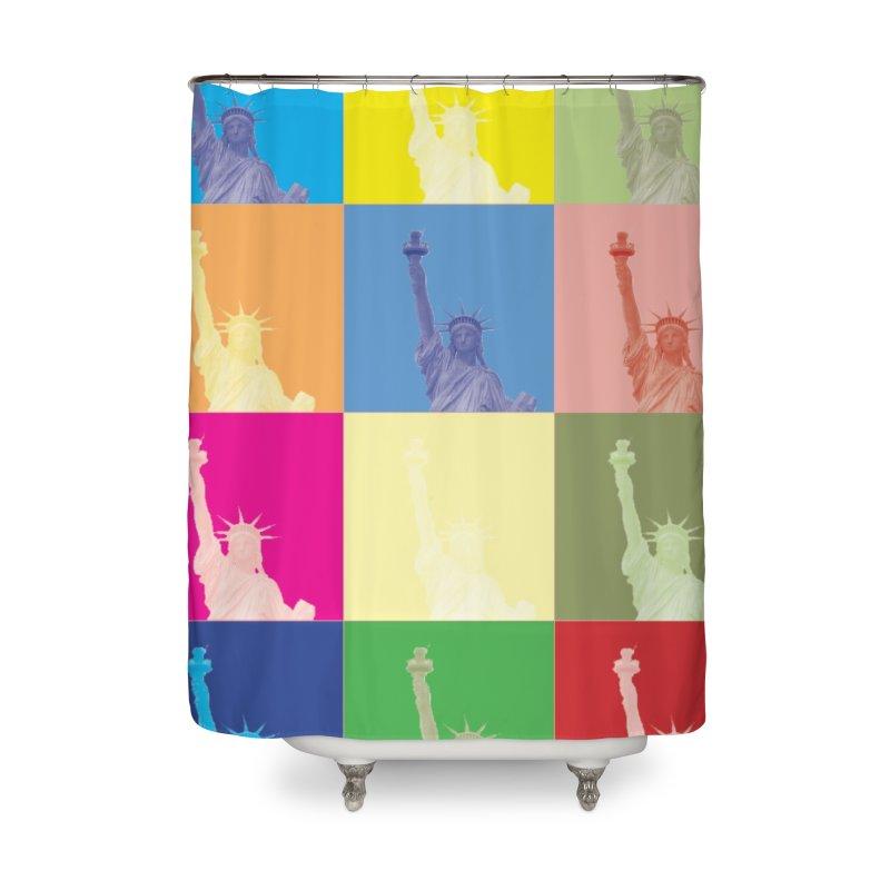 LIBERTY Home Shower Curtain by designsbydana's Artist Shop