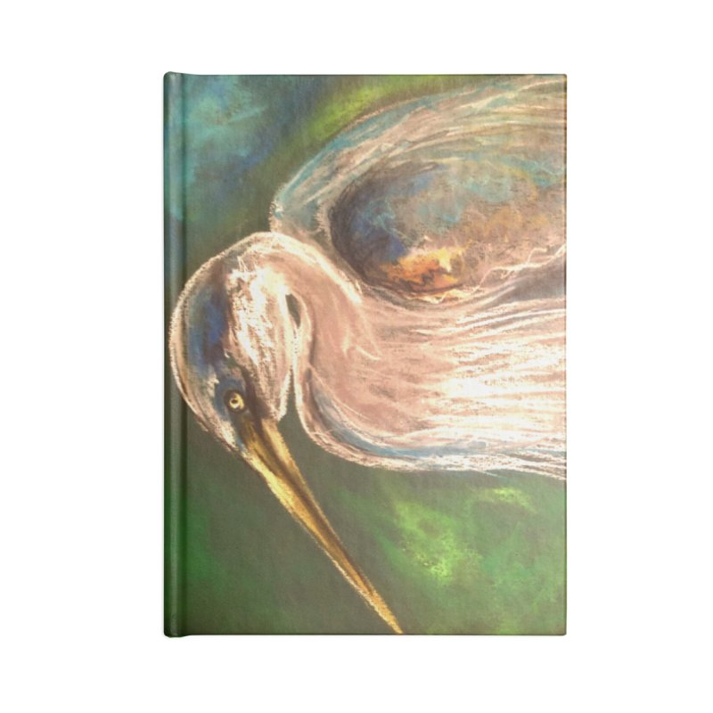 PASTLE HERON Accessories Lined Journal Notebook by designsbydana's Artist Shop
