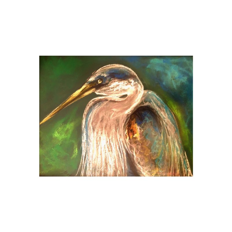 PASTLE HERON Accessories Zip Pouch by designsbydana's Artist Shop