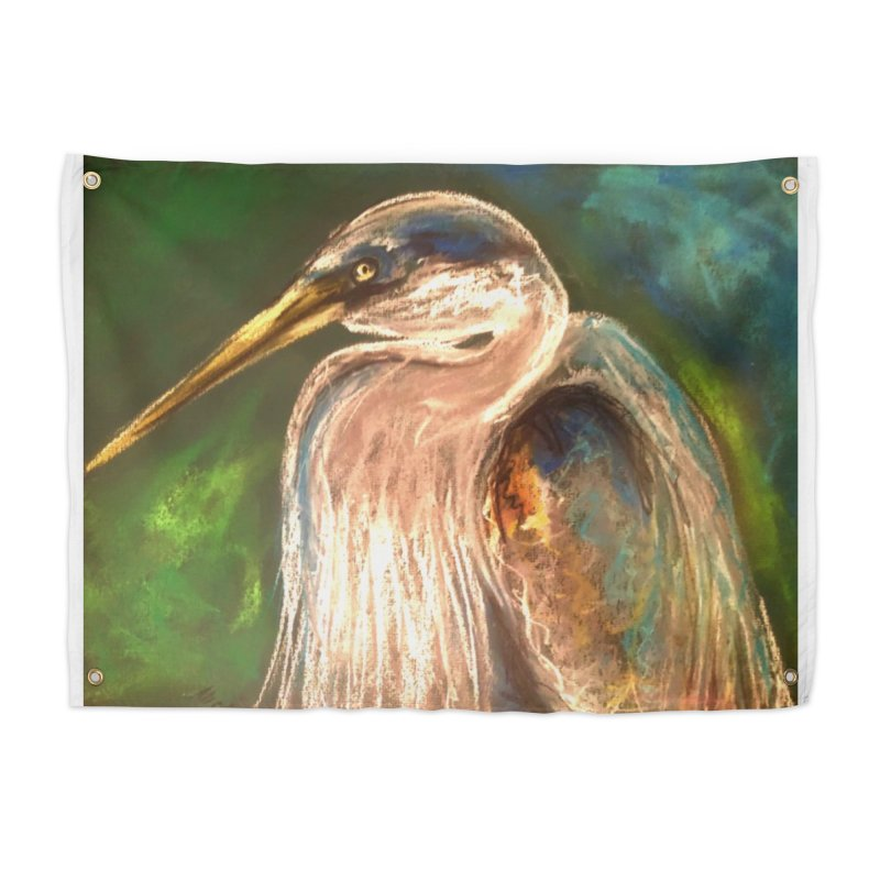 PASTLE HERON Home Tapestry by designsbydana's Artist Shop