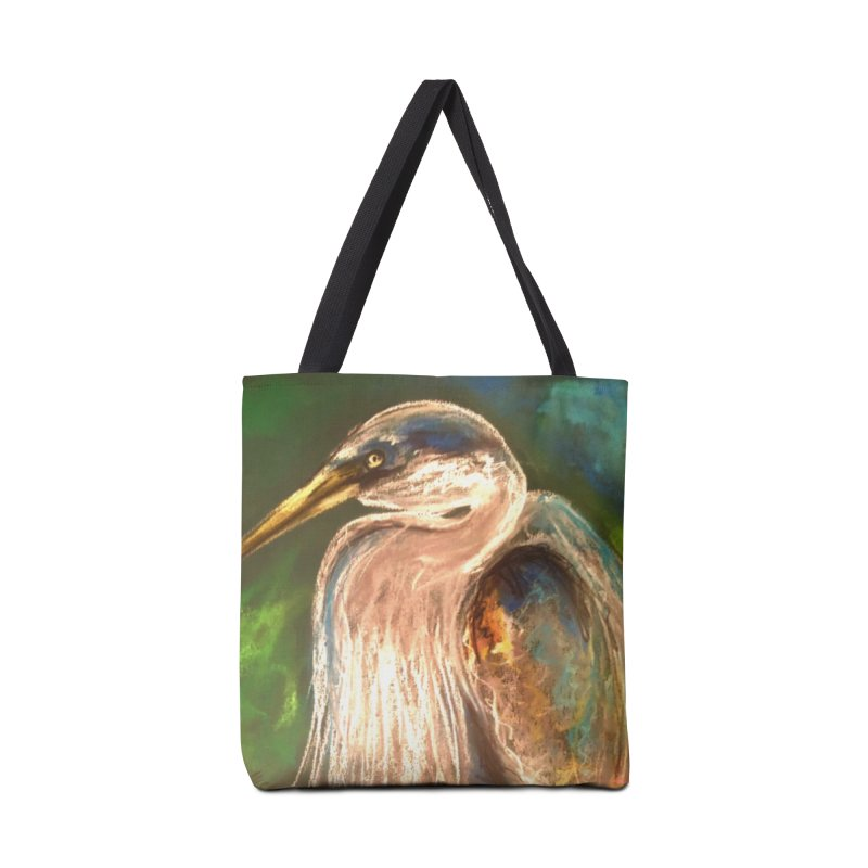 PASTLE HERON Accessories Tote Bag Bag by designsbydana's Artist Shop