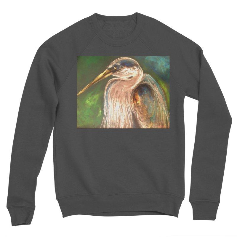 PASTLE HERON Men's Sponge Fleece Sweatshirt by designsbydana's Artist Shop