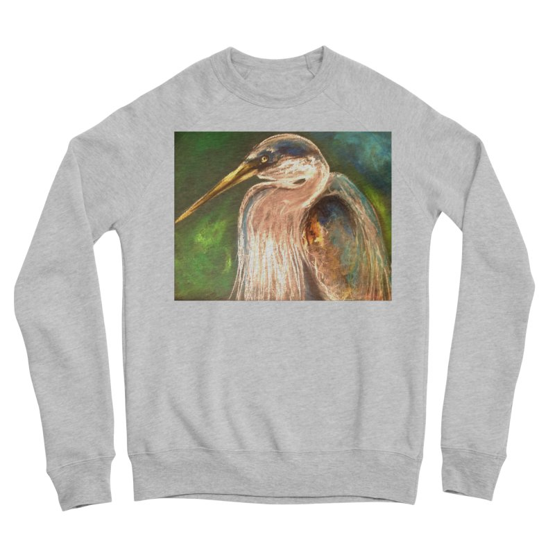 PASTLE HERON Women's Sponge Fleece Sweatshirt by designsbydana's Artist Shop