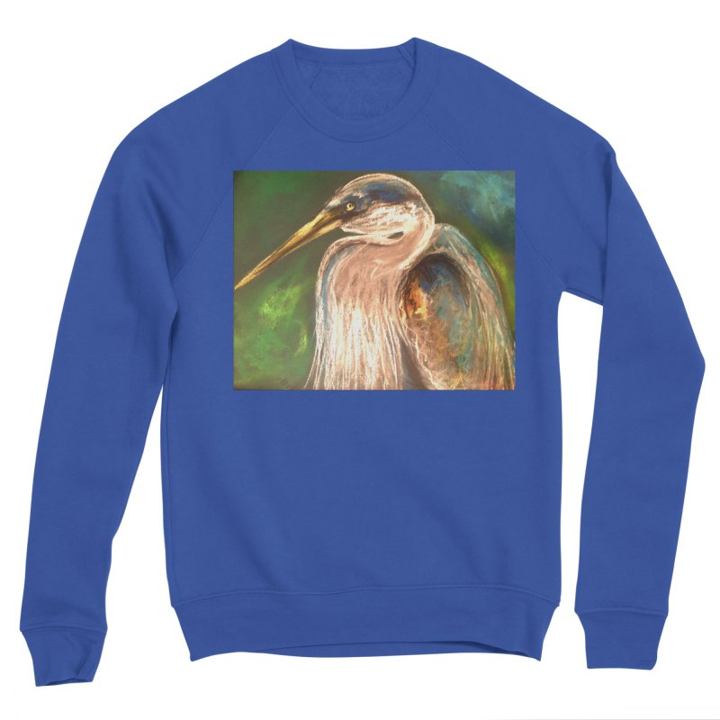 PASTLE HERON Men's Sweatshirt by designsbydana's Artist Shop