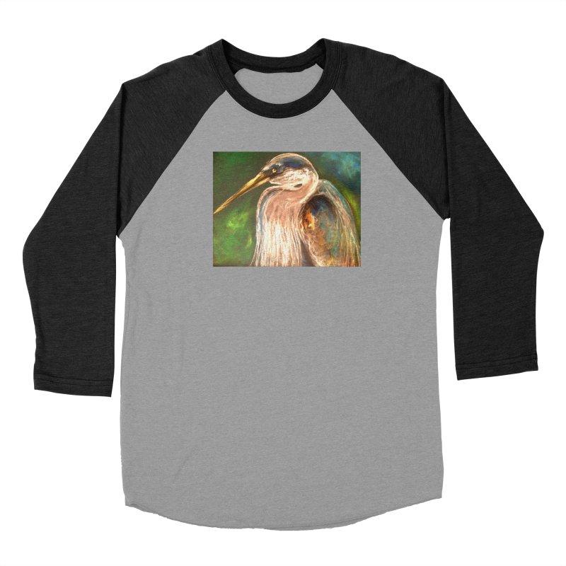 PASTLE HERON Women's Baseball Triblend Longsleeve T-Shirt by designsbydana's Artist Shop