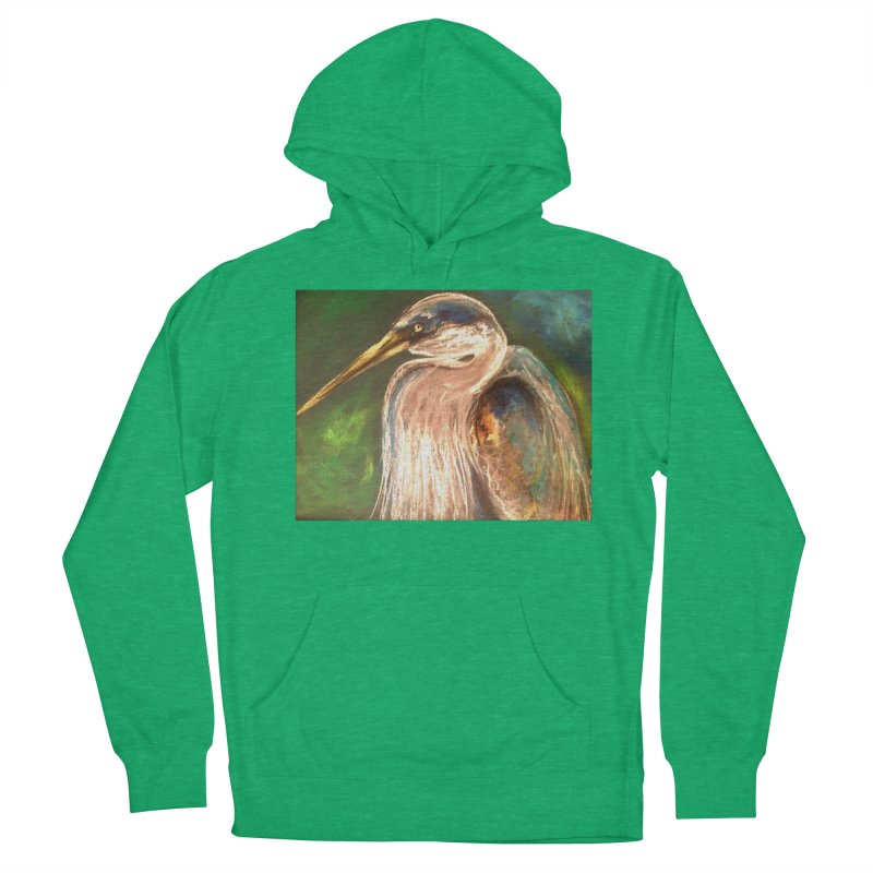 PASTLE HERON Women's French Terry Pullover Hoody by designsbydana's Artist Shop
