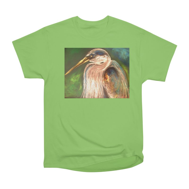 PASTLE HERON Women's Heavyweight Unisex T-Shirt by designsbydana's Artist Shop
