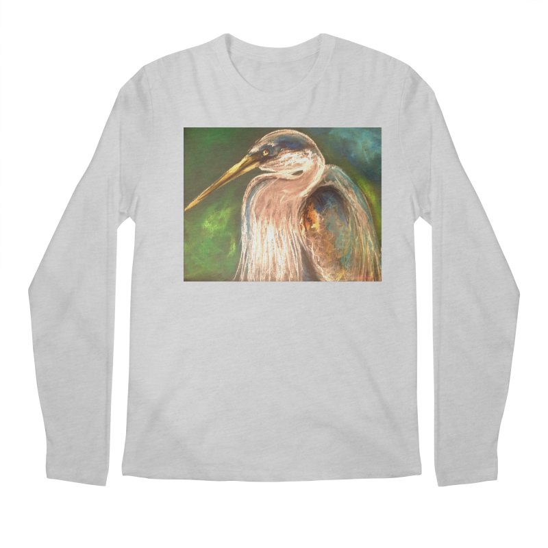 PASTLE HERON Men's Regular Longsleeve T-Shirt by designsbydana's Artist Shop