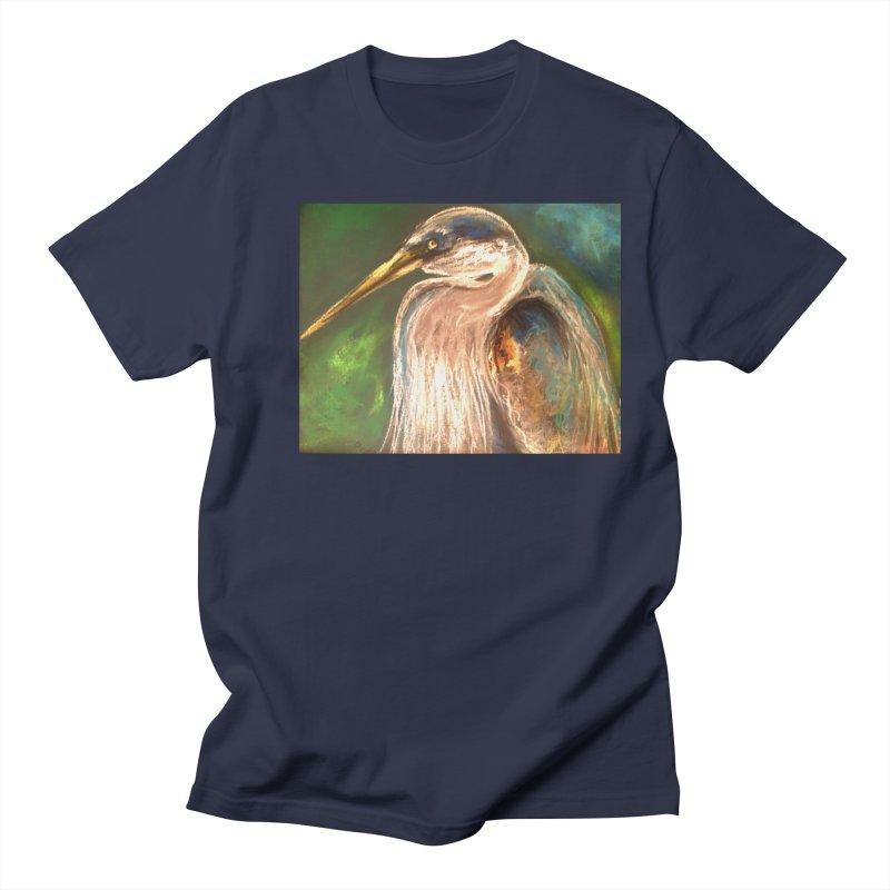 PASTLE HERON Men's Regular T-Shirt by designsbydana's Artist Shop