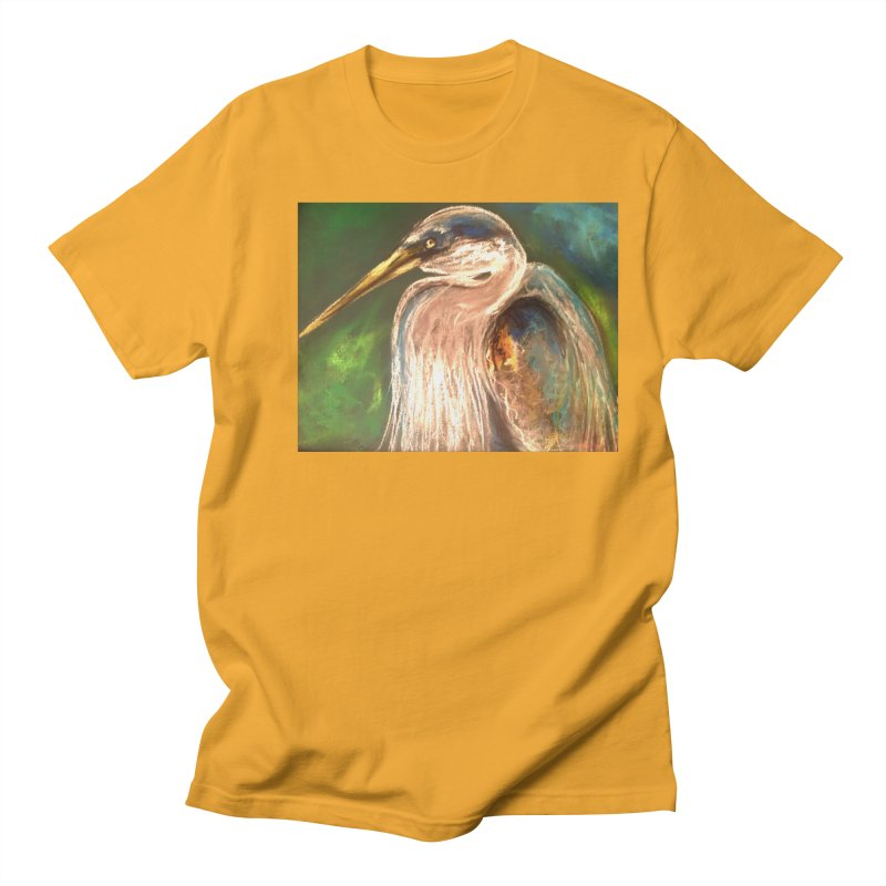 PASTLE HERON Men's T-Shirt by designsbydana's Artist Shop