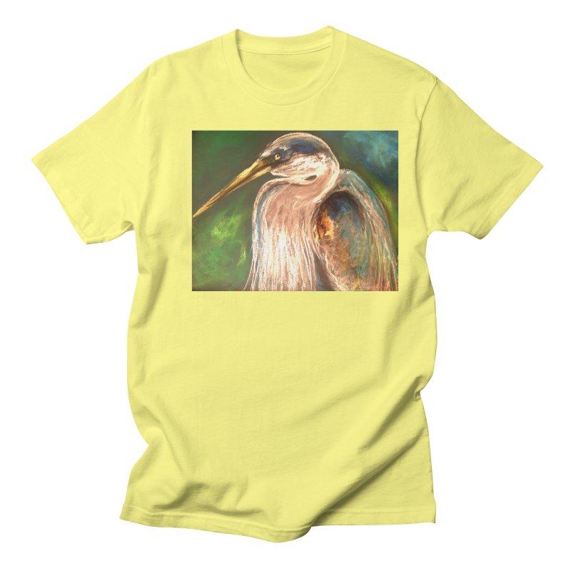 PASTLE HERON Men's T-Shirt by designsbydana's Artist Shop