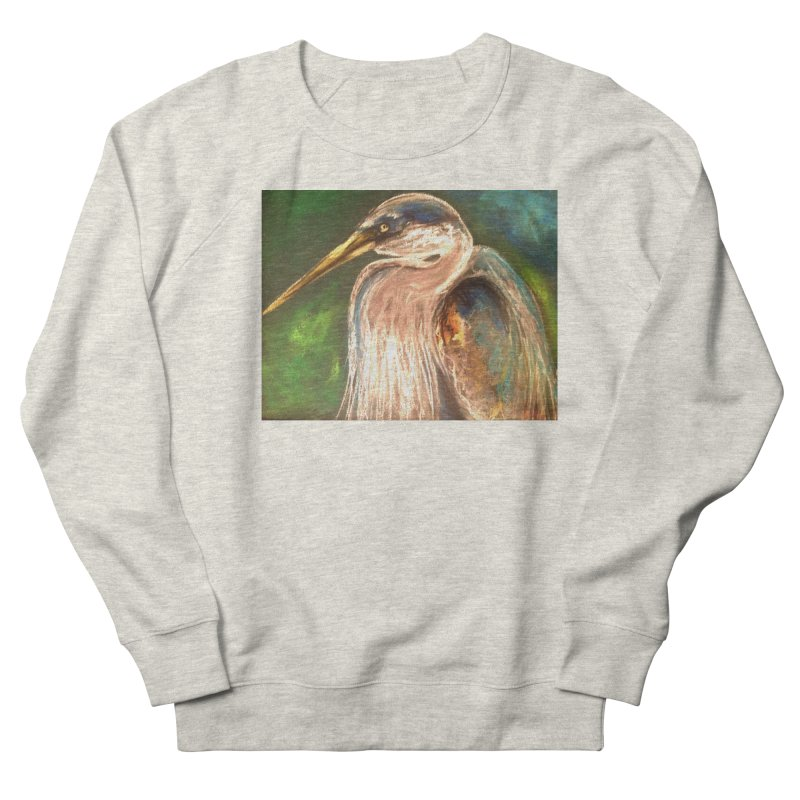 PASTLE HERON Men's Sweatshirt by designsbydana's Artist Shop