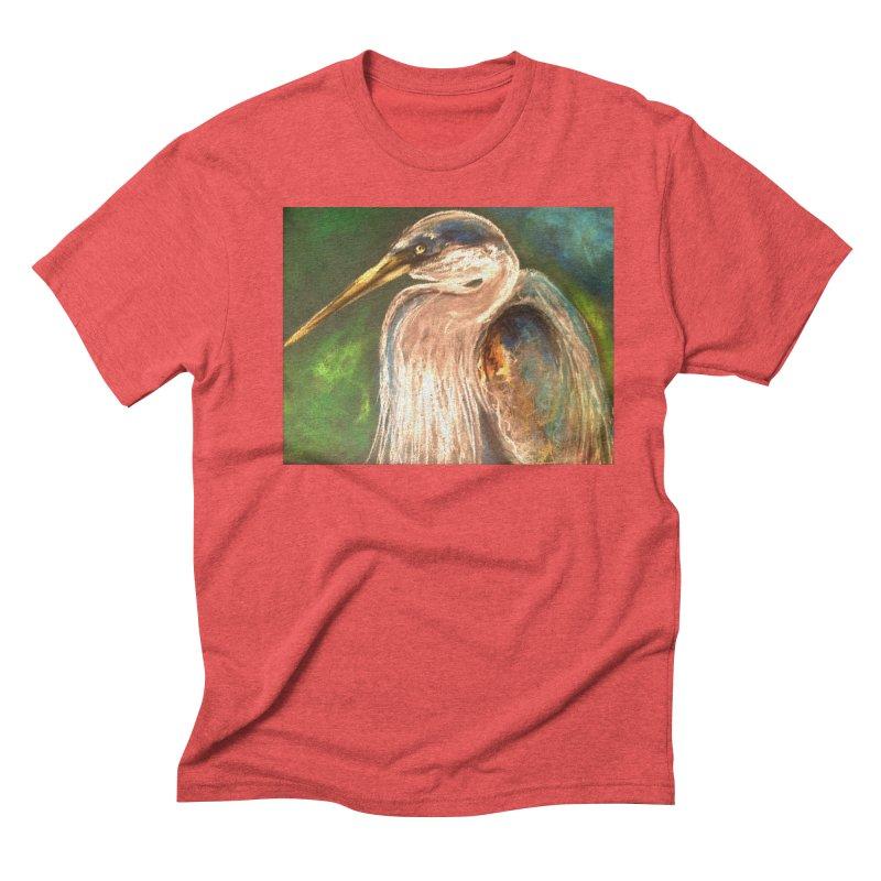 PASTLE HERON Men's Triblend T-Shirt by designsbydana's Artist Shop