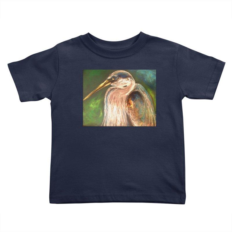 PASTLE HERON Kids Toddler T-Shirt by designsbydana's Artist Shop