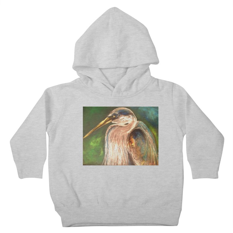 PASTLE HERON Kids Toddler Pullover Hoody by designsbydana's Artist Shop